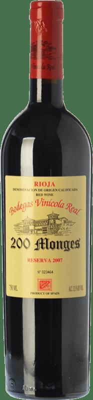 39,95 € | Red wine Vinícola Real 200 Monges Reserva D.O.Ca. Rioja The Rioja Spain Tempranillo, Graciano, Mazuelo Bottle 75 cl