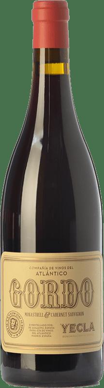 13,95 € | Red wine Vinos del Atlántico Gordo Joven D.O. Yecla Region of Murcia Spain Cabernet Sauvignon, Monastrell Bottle 75 cl