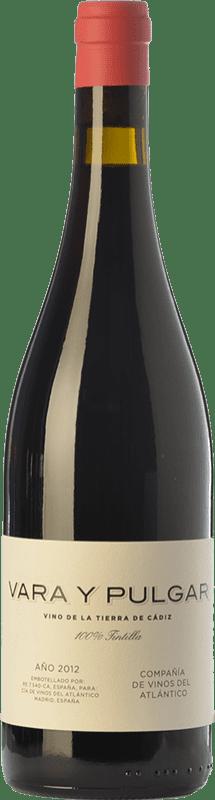 18,95 € | Red wine Vinos del Atlántico Vara y Pulgar Crianza I.G.P. Vino de la Tierra de Cádiz Andalusia Spain Tintilla Bottle 75 cl