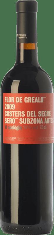 21,95 € Free Shipping | Red wine Vinya L'Hereu Flor de Grealó Crianza D.O. Costers del Segre Catalonia Spain Merlot, Syrah, Cabernet Sauvignon Bottle 75 cl