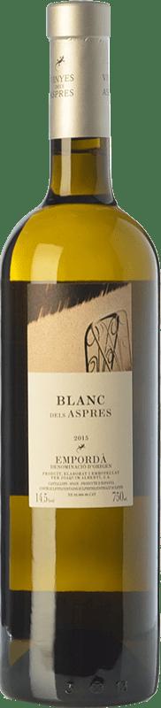 17,95 € Envío gratis | Vino blanco Aspres Blanc Criança Crianza D.O. Empordà Cataluña España Garnacha Blanca Botella 75 cl