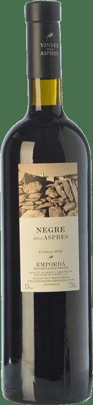 17,95 € Envío gratis | Vino tinto Aspres Negre Crianza D.O. Empordà Cataluña España Garnacha, Cabernet Sauvignon, Cariñena Botella 75 cl