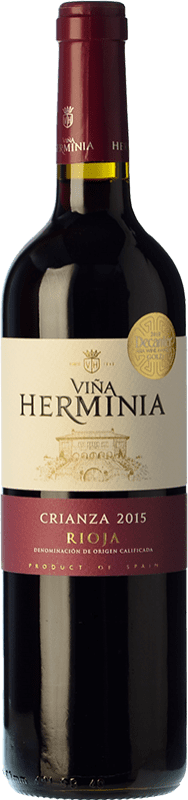 6,95 € Free Shipping | Red wine Viña Herminia Crianza D.O.Ca. Rioja The Rioja Spain Tempranillo, Grenache Bottle 75 cl