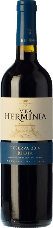 12,95 € Envío gratis | Vino tinto Viña Herminia Reserva D.O.Ca. Rioja La Rioja España Tempranillo, Garnacha, Graciano Botella 75 cl