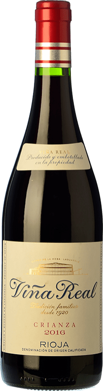 8,95 € Free Shipping | Red wine Viña Real Crianza D.O.Ca. Rioja The Rioja Spain Tempranillo, Grenache, Graciano, Mazuelo Bottle 75 cl