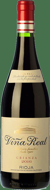 8,95 € Envío gratis   Vino tinto Viña Real Crianza D.O.Ca. Rioja La Rioja España Tempranillo, Garnacha, Graciano, Mazuelo Botella 75 cl