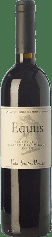 7,95 € 免费送货 | 红酒 Santa Marina Equus Joven I.G.P. Vino de la Tierra de Extremadura 埃斯特雷马杜拉 西班牙 Tempranillo, Syrah, Cabernet Sauvignon 瓶子 75 cl