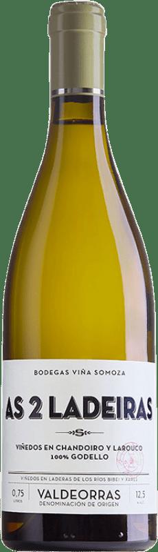 22,95 € | White wine Viña Somoza As 2 Ladeiras Crianza D.O. Valdeorras Galicia Spain Godello Bottle 75 cl