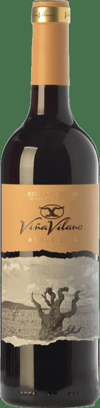 9,95 € Free Shipping | Red wine Viña Vilano Roble D.O. Ribera del Duero Castilla y León Spain Tempranillo Bottle 75 cl