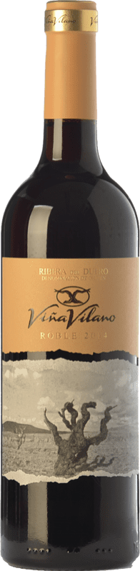 9,95 € 免费送货   红酒 Viña Vilano Roble D.O. Ribera del Duero 卡斯蒂利亚莱昂 西班牙 Tempranillo 瓶子 75 cl
