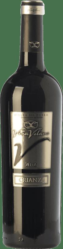 9,95 € 免费送货   红酒 Viña Vilano Crianza D.O. Ribera del Duero 卡斯蒂利亚莱昂 西班牙 Tempranillo 瓶子 75 cl