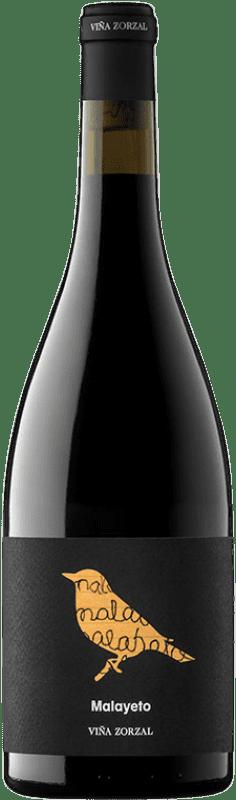 17,95 € Envío gratis | Vino tinto Viña Zorzal Malayeto Joven D.O. Navarra Navarra España Garnacha Botella 75 cl