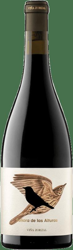 19,95 € 免费送货 | 红酒 Viña Zorzal Señora de las Alturas Crianza D.O. Navarra 纳瓦拉 西班牙 Tempranillo, Grenache, Graciano 瓶子 75 cl