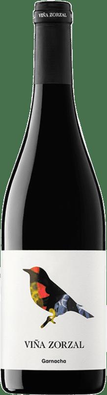 8,95 € 免费送货 | 红酒 Viña Zorzal Joven D.O. Navarra 纳瓦拉 西班牙 Grenache 瓶子 75 cl