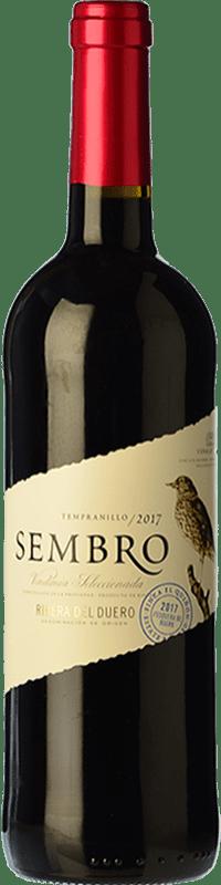 7,95 € | Red wine Viñas del Jaro Sembro Joven D.O. Ribera del Duero Castilla y León Spain Tempranillo Bottle 75 cl