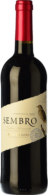 7,95 € Envío gratis | Vino tinto Viñas del Jaro Sembro Joven D.O. Ribera del Duero Castilla y León España Tempranillo Botella 75 cl