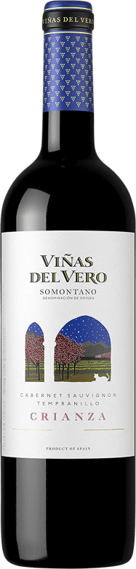 7,95 € | Red wine Viñas del Vero Crianza D.O. Somontano Aragon Spain Tempranillo, Cabernet Sauvignon Bottle 75 cl