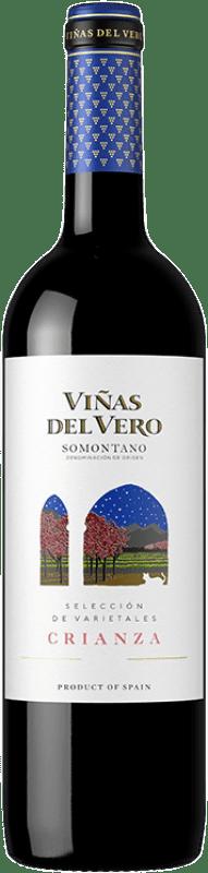 7,95 € Envío gratis | Vino tinto Viñas del Vero Crianza D.O. Somontano Aragón España Tempranillo, Cabernet Sauvignon Botella 75 cl