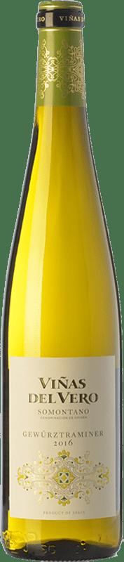 12,95 € Envío gratis | Vino blanco Viñas del Vero D.O. Somontano Aragón España Gewürztraminer Botella 75 cl