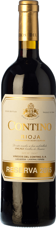 29,95 € Free Shipping | Red wine Viñedos del Contino Reserva D.O.Ca. Rioja The Rioja Spain Tempranillo, Grenache, Graciano, Mazuelo Bottle 75 cl