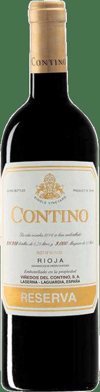 29,95 € Envío gratis | Vino tinto Viñedos del Contino Reserva D.O.Ca. Rioja La Rioja España Tempranillo, Garnacha, Graciano, Mazuelo Botella 75 cl