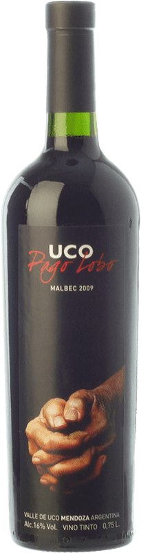 35,95 € Free Shipping | Red wine Valle de Uco Pago Lobo Crianza I.G. Valle de Uco Uco Valley Argentina Malbec Bottle 75 cl