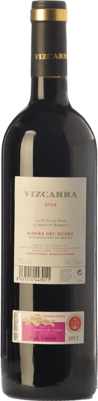 13,95 € Free Shipping | Red wine Vizcarra Crianza D.O. Ribera del Duero Castilla y León Spain Tempranillo Bottle 75 cl