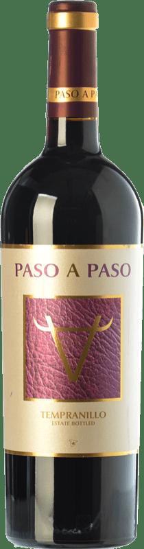 6,95 € Envío gratis | Vino tinto Volver Paso a Paso Joven I.G.P. Vino de la Tierra de Castilla Castilla la Mancha España Tempranillo Botella 75 cl