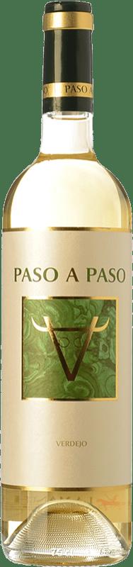 6,95 € Envío gratis | Vino blanco Volver Paso a Paso D.O. La Mancha Castilla la Mancha España Verdejo Botella 75 cl