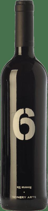11,95 € Envío gratis | Vino tinto Winery Arts Seis al Revés Crianza España Tempranillo, Merlot Botella 75 cl
