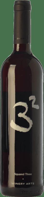 9,95 € Free Shipping | Red wine Winery Arts Tres al Cuadrado Crianza Spain Tempranillo, Merlot, Grenache Bottle 75 cl