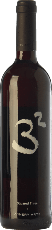 9,95 € Envío gratis | Vino tinto Winery Arts Tres al Cuadrado Crianza España Tempranillo, Merlot, Garnacha Botella 75 cl