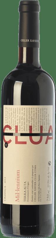 19,95 € Envío gratis | Vino tinto Xavier Clua Mil·lennium Crianza D.O. Terra Alta Cataluña España Merlot, Syrah, Garnacha, Cabernet Sauvignon, Pinot Negro Botella 75 cl