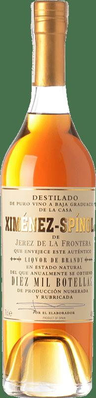 79,95 € Envío gratis | Brandy Ximénez-Spínola Criaderas Diez Mil Botellas D.O. Jerez-Xérès-Sherry Andalucía España Botella 70 cl