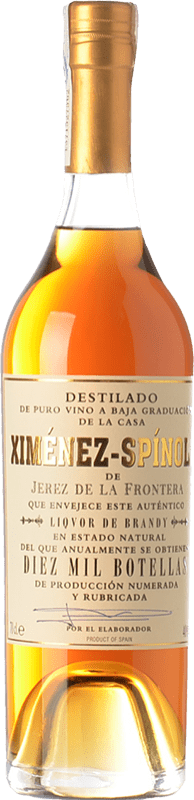 79,95 € Free Shipping | Brandy Ximénez-Spínola Criaderas Diez Mil Botellas D.O. Jerez-Xérès-Sherry Andalusia Spain Bottle 70 cl