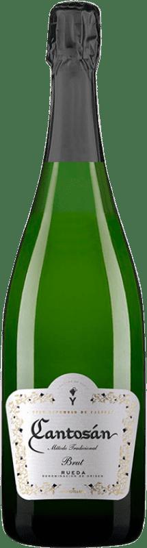 8,95 € Envío gratis | Espumoso blanco Yllera Cantosán Brut Reserva D.O. Rueda Castilla y León España Verdejo Botella 75 cl