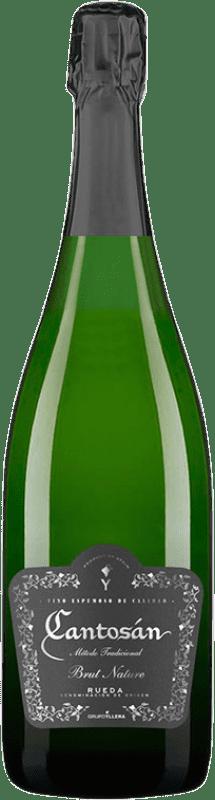 7,95 € Envío gratis | Espumoso blanco Yllera Cantosán Brut Nature D.O. Rueda Castilla y León España Verdejo Botella 75 cl
