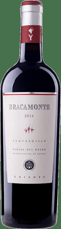 13,95 € Envío gratis | Vino tinto Yllera Bracamonte Crianza D.O. Ribera del Duero Castilla y León España Tempranillo Botella 75 cl