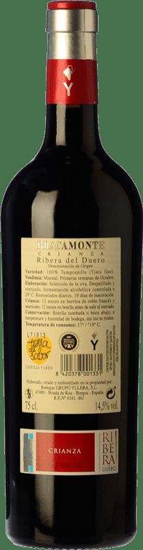 13,95 € Free Shipping   Red wine Yllera Bracamonte Crianza D.O. Ribera del Duero Castilla y León Spain Tempranillo Bottle 75 cl