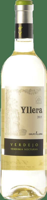 7,95 € Envío gratis | Vino blanco Yllera Joven D.O. Rueda Castilla y León España Verdejo Botella 75 cl