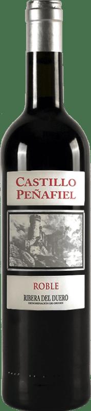 红酒 Thesaurus Castillo de Peñafiel 6 Meses Crianza D.O. Ribera del Duero 卡斯蒂利亚莱昂 西班牙 Tempranillo 瓶子 75 cl