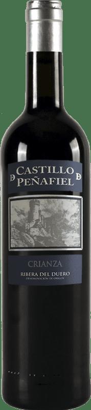红酒 Thesaurus Castillo de Peñafiel 12 Meses Crianza D.O. Ribera del Duero 卡斯蒂利亚莱昂 西班牙 Tempranillo 瓶子 75 cl