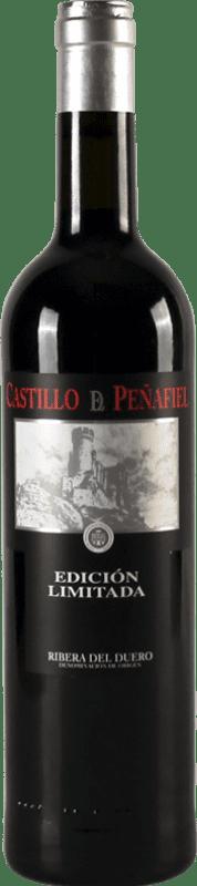 红酒 Thesaurus Castillo de Peñafiel 18 Meses Reserva D.O. Ribera del Duero 卡斯蒂利亚莱昂 西班牙 Tempranillo 瓶子 75 cl
