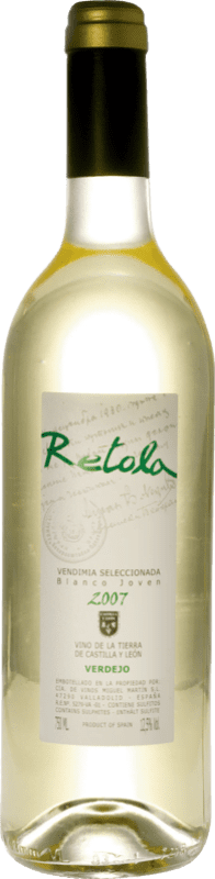 Белое вино Thesaurus Retola Vendimia Seleccionada Joven I.G.P. Vino de la Tierra de Castilla y León Кастилия-Леон Испания Viura, Verdejo, Sauvignon White бутылка 75 cl