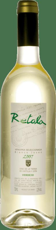 白酒 Thesaurus Retola Vendimia Seleccionada Joven I.G.P. Vino de la Tierra de Castilla y León 卡斯蒂利亚莱昂 西班牙 Viura, Verdejo, Sauvignon White 瓶子 75 cl