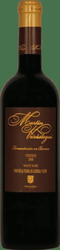 9,95 € Envío gratis | Vino blanco Thesaurus Martín Verástegui Fermentación Barrica Crianza I.G.P. Vino de la Tierra de Castilla y León Castilla y León España Verdejo Botella 75 cl