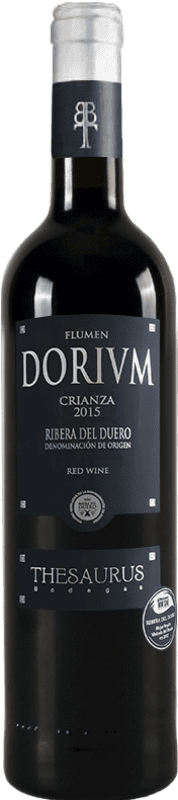 红酒 Thesaurus Flumen Dorium 12 Meses Crianza D.O. Ribera del Duero 卡斯蒂利亚莱昂 西班牙 Tempranillo 瓶子 75 cl