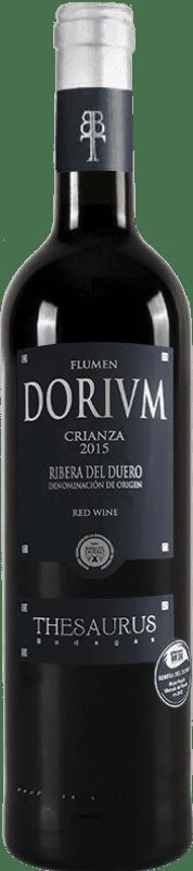 12,95 € | Vin rouge Thesaurus Flumen Dorium 12 Meses Crianza D.O. Ribera del Duero Castille et Leon Espagne Tempranillo Bouteille 75 cl