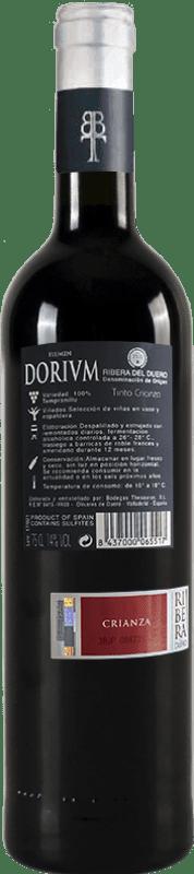 13,95 € Free Shipping | Red wine Thesaurus Flumen Dorium 12 Meses Crianza D.O. Ribera del Duero Castilla y León Spain Tempranillo Bottle 75 cl