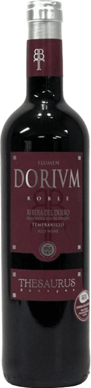 7,95 € | Red wine Thesaurus Flumen Dorium Roble D.O. Ribera del Duero Castilla y León Spain Tempranillo Bottle 75 cl